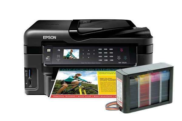 Купить МФУ Epson Workforce WF-3520DWF Refurbished (США) с СНПЧ HighTech