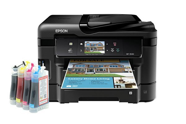 Купить МФУ Epson Workforce WF-3540 Refurbished (США) с СНПЧ Standart