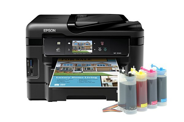 Купить МФУ Epson Workforce WF-3540 Refurbished (США) с СНПЧ King Size