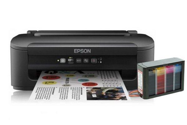 Купить Принтер Epson Workforce WF-2010W с СНПЧ HighTech
