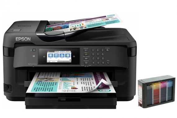 изображение МФУ Epson WorkForce WF-7715DWF с СНПЧ Hightech