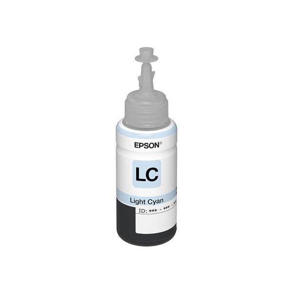 Оригинальные чернила T673 Light Cyan для Epson L800 (70ml)