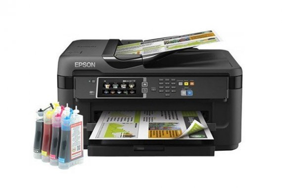 изображение МФУ Epson WorkForce WF-7610DWF Refurbished с СНПЧ