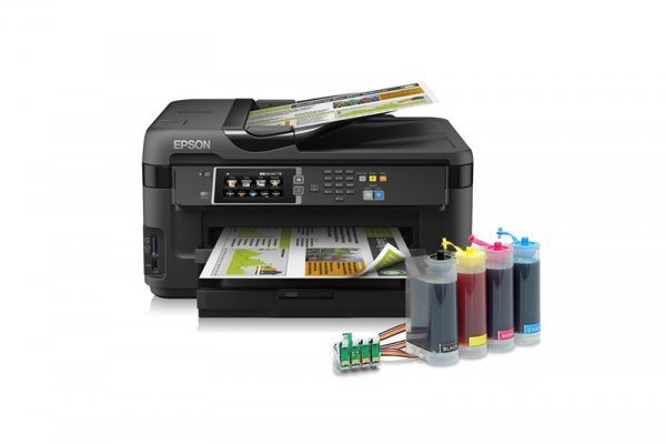 изображение МФУ Epson WorkForce WF-7610DWF с СНПЧ King Size (4*320 мл.)