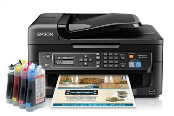 изображение МФУ Epson Workforce WF-2630 Refurbished с СНПЧ