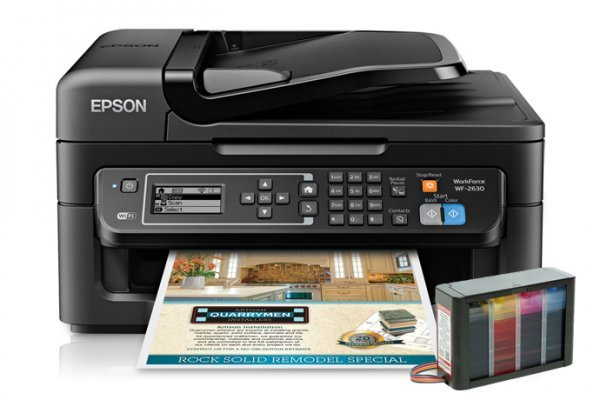 изображение МФУ Epson Workforce WF-2630 Refurbished с СНПЧ High Tech