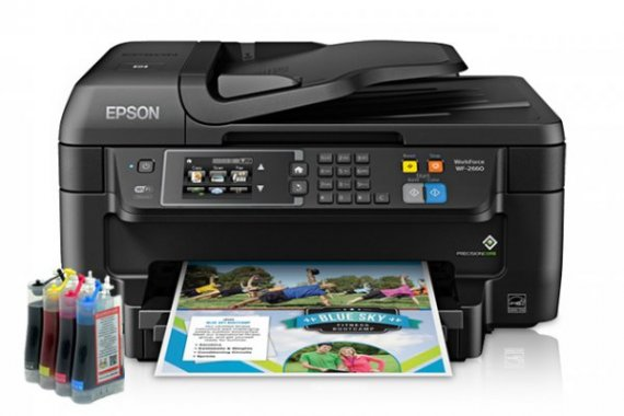изображение МФУ Epson Workforce WF-2660 Refurbished c СНПЧ