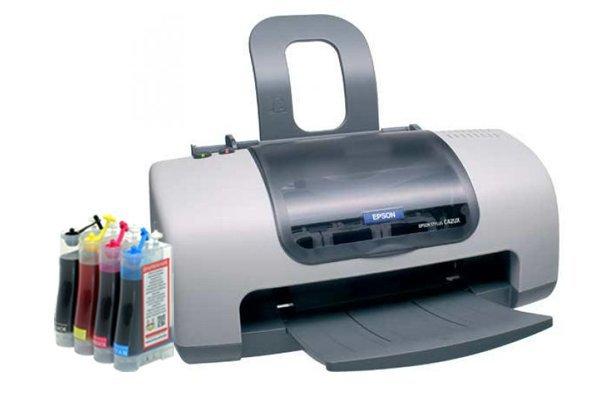 Принтер Epson Stylus C42 с СНПЧ